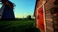Barn und Windmühle