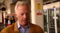 Mark Thatcher interview ENGLAND London Chelsea and Westminster Hospital EXT Mark Thatcher departing hospital and along to speak to press SOT She's...