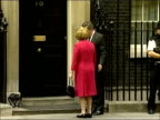 Baroness Thatcher returns to Downing Street for meeting with Gordon Brown ENGLAND London Downing Street EXT Gordon Brown MP along and posing for...