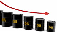 HD: Barrels And Arrow Showing Oil Price