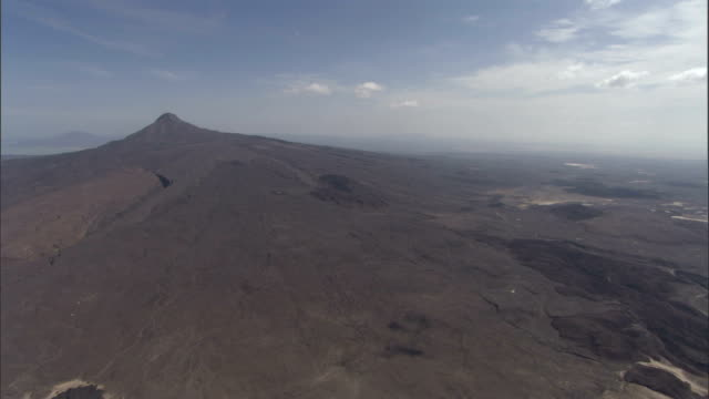 Barren earth covers a mountain in Ethiopia. Available in HD.