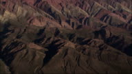 Barren hills make up the Humahuaca Valley in Argentina. Available in HD.