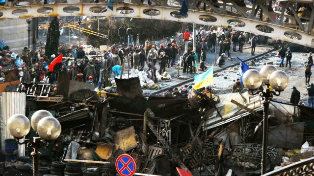 Barricade a Kiev-febbraio 2014