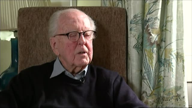Barrister Lord Jeremy Hutchinson QC dies aged 102 T23031510 / 2332015 Lord Hutchinson QC interview SOT Reporter talking to Jeremy Hutchinson Lord...