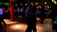 Bars music and tango in Buenos Aires General views Argentine couples tango dancing on dancefloor