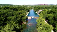 Barton Springs Austin Texas USA low angle of crystal clear spring water in Austin Texas USA