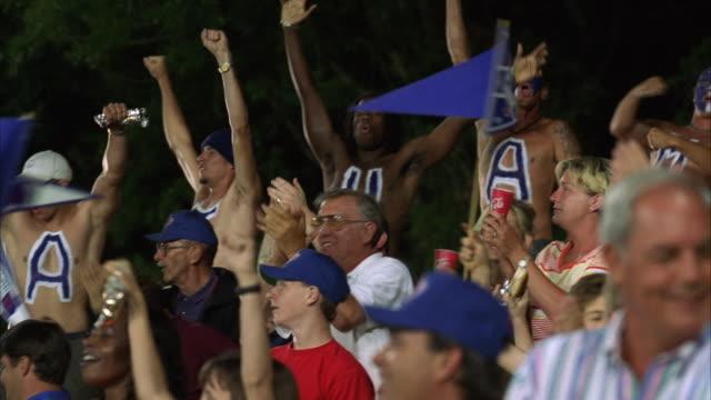 MS PAN Baseball crowd cheering from bleachers