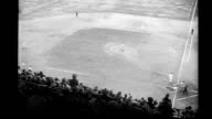 Baseball diamond shot from stands looking down at home plate from film 'Elmer the Great' Baseball game on January 01 1930