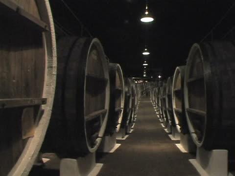 basement with raw wine