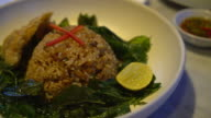 Basil Fried Rice with Crispy Gourami Fish