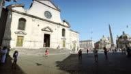 Basilica of Santa Maria del Popolo, in piazza del Popolo.