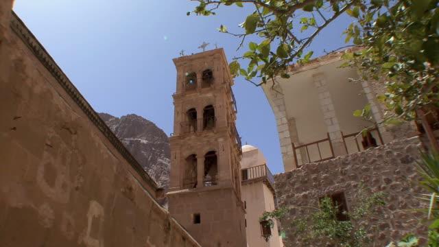 WS LA ZI Basilica of Transfiguration and Fatimid Mosque in St Catherine's Monastery, Mount Sinai, Egypt