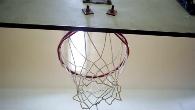 Basketball Going Through A Net