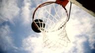 HD SUPER SLOW-MO: Basketball Going Through The Net