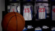 Basketball locker / changing room with Ball, DOLLY (Sport kit)