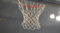 Basketball net score close up