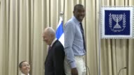 NBA basketball player Amare Stoudemire of the New York Knicks is in Jerusalem to fulfill his role as an assistant coach of the Canadian basketball...