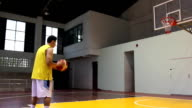 Basketball player shooting penalty