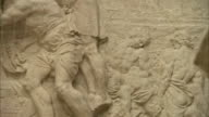 Bas-relief on the side of the Pestsäule depicts scenes of the Great Plague of Vienna. Available in HD.