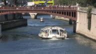 Bateau Mouche sightseeing boat. Paris