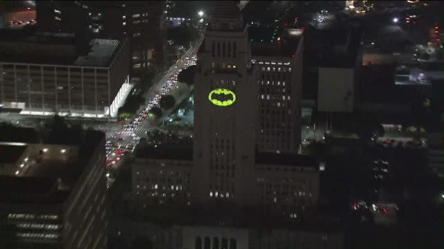 KTLA BatSignal Shines From LA City Hall in Honor of Actor Adam West