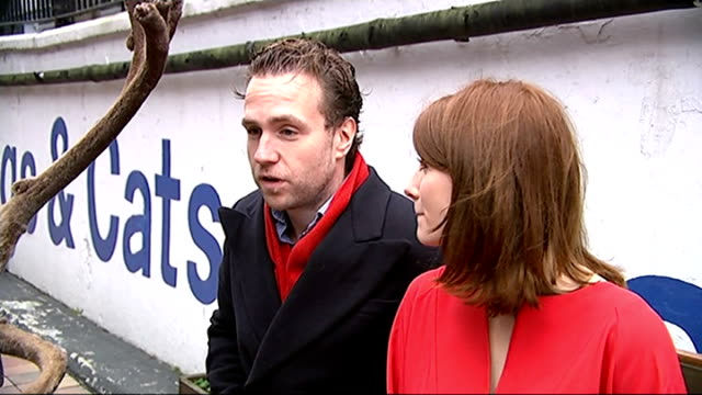 Battersea Dogs and Cats Home gets festive after being location for 'Get Santa' movie London Battersea Dogs and Cats Home Rafe Spall interview SOT