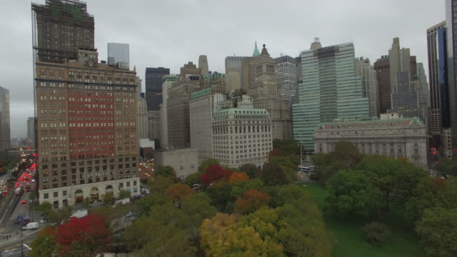 Battery Park NYC Aerial