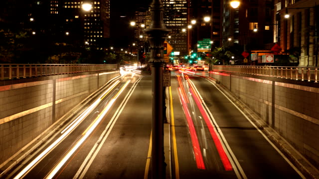 Battery Tunnel Light Trails in New York City