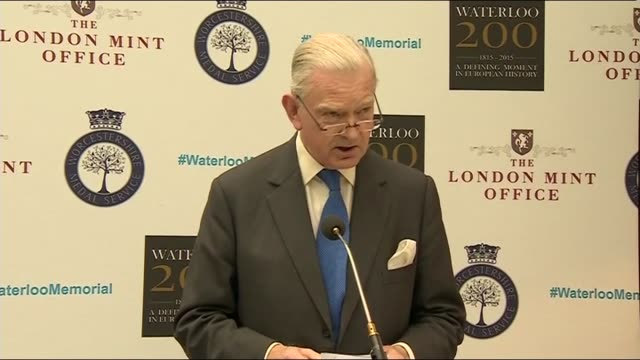 Memorial unveiled Man speaking SOT / Peter Snow speech SOT