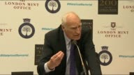 Memorial unveiled Peter Snow speech SOT / James Deeny speech SOT
