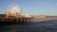 Beach at Santa Monica Pier