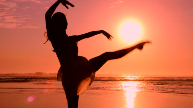 Beach Ballet at sunset