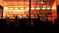 Beach bar at night