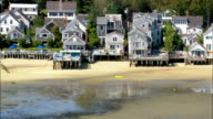 Beach houses in Provincetown - Aerial View - Massachusetts,  Barnstable County,  United States