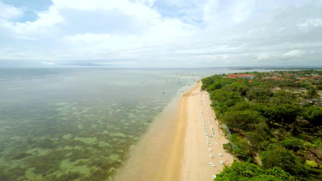Veduta aerea della spiaggia di Bali