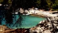 Strand auf der Insel Hvar in Kroatien