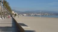 Beach promenade in El Campello. Spain