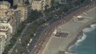 AERIAL Beach, traffic and Promenade des Anglais/ Nice, France
