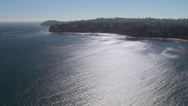 AERIAL Beaches along the Pacific coast / Malibu, California, United States