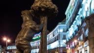 Bear Statue, Puerta del Sol, Madrid - Time Lapse