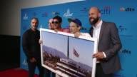 Beastie Boys Zane Lowe and Steve Barnett at ArcLight Cinemas on August 05 2015 in Hollywood California