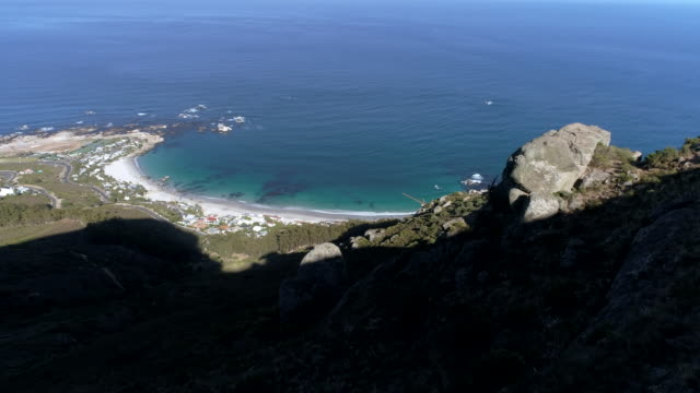 Beautiful aerial view of Camps bay beach