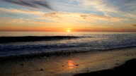 Beautiful and Calm Pacific Ocean Sunset