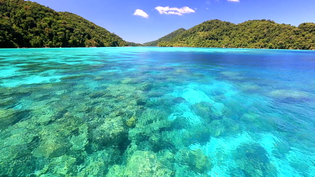 Beautiful andaman sea at Surin National Park snorkelling point Thailand