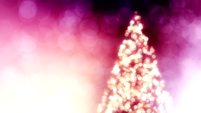Beautiful background with Christmas tree loop