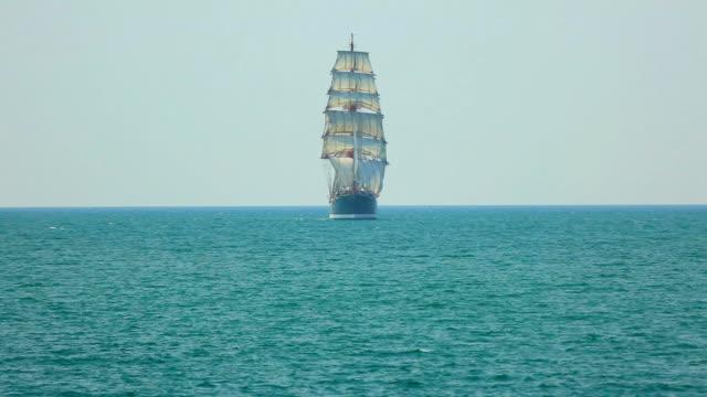 beautiful barque in full sail