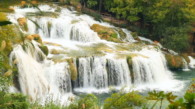 HD: Beautiful Cascades In Krka National Park