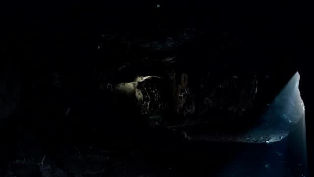 Beautiful cave magic lights
