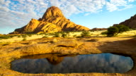T/L WS Beautiful Cloudscape Over Spitzkoppe Mountain