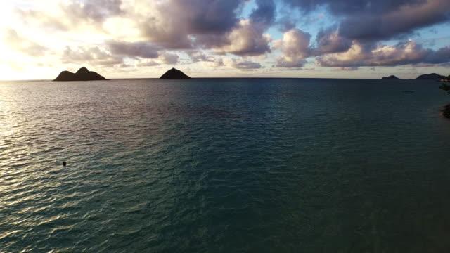 Beautiful, colorful ocean sunset